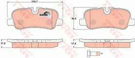 Rear Brake Pad Set, Range Rover Sport 06- 09, LR021316