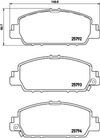 HONDA ACCORD IX/X FRONT BRAKE PAD SET