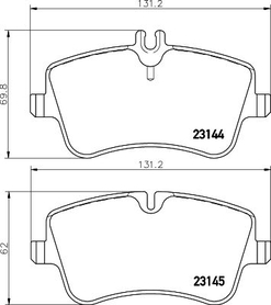 MERCEDES C CLASS FRONT BRAKE PAD SET