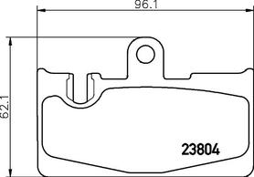 Rear Brake pads OEM Lexus LS 430 2006