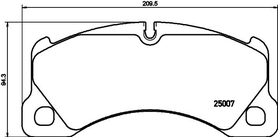 PORSCHE CAYENNE 92A/MACAN92B/PANAMERA970,971 FRONT BRAKE PAD SET