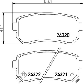 HYUNDAI ACCENT/ KIA RIO/ SPORTAGE REAR BRAKE PAD SET