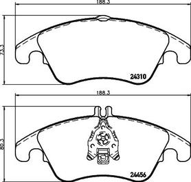 OEM Front Brake Pads - MB w204 / W212
