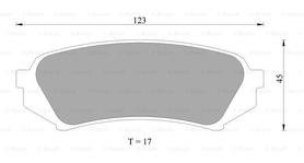 Rear Brake Pads for Toyota LandCruiser UJZ100 / Lexus LX470 upto 2007