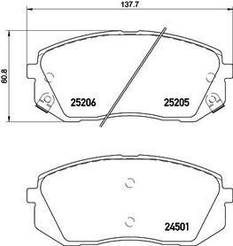 HYUNDAI TUCSON/i40/KIA OPTIMA/SPORTAGE FRONT BRAKE PAD SET