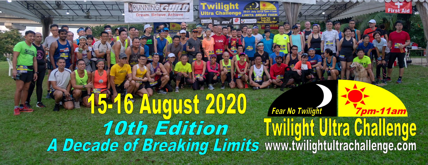Twilight Ultra Challenge 2020 (10th Edition) Tickets by Running Guild, 15  Aug, 2020, Singapore Event