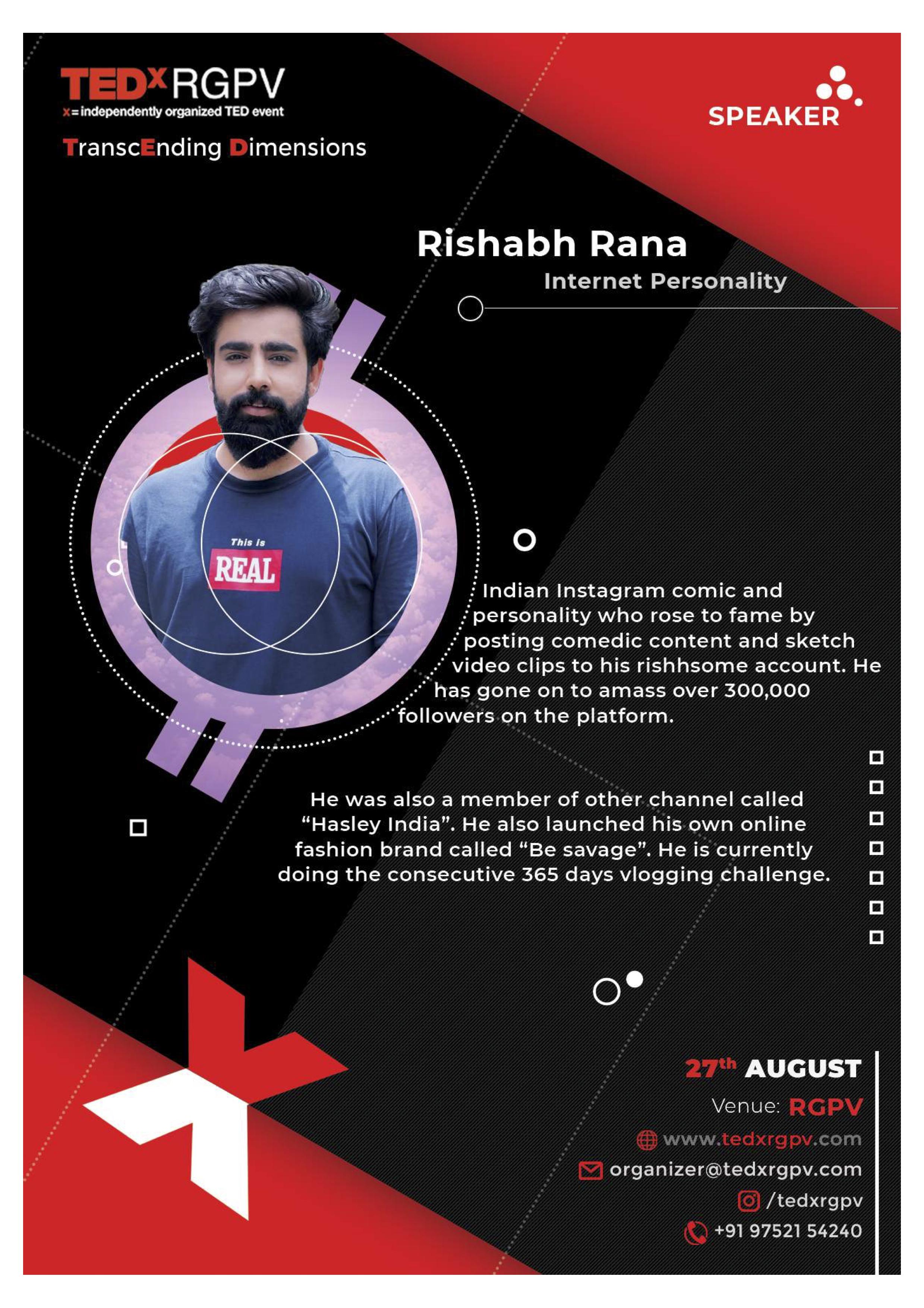 TEDxRGPV Tickets by ankur sahu, 27 Aug, 2019, Bhopal Event