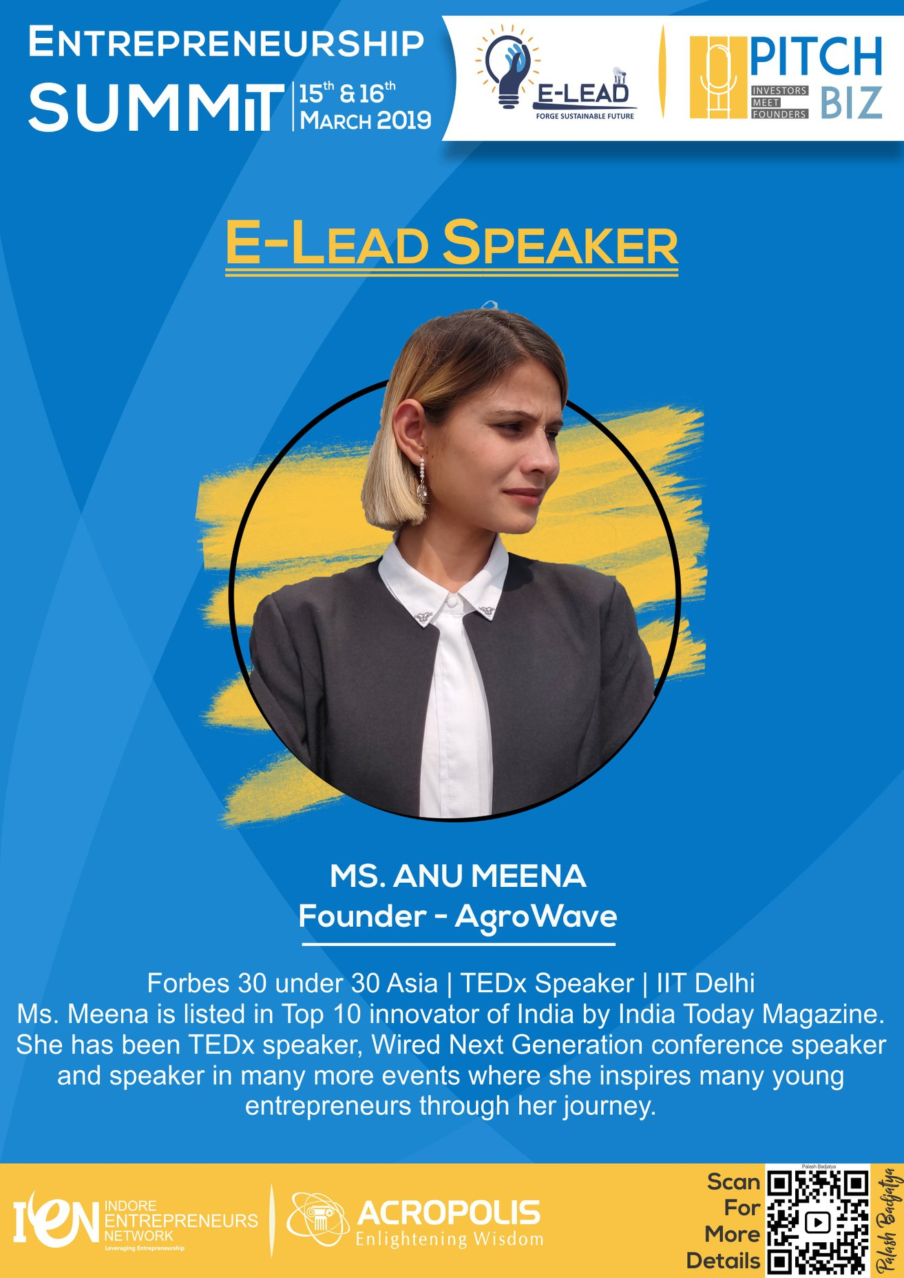 E-Lead and PitchBiz 2019 Tickets by SRIJAN Acropolis E Cell, 15 Mar, 2019,  Indore Event