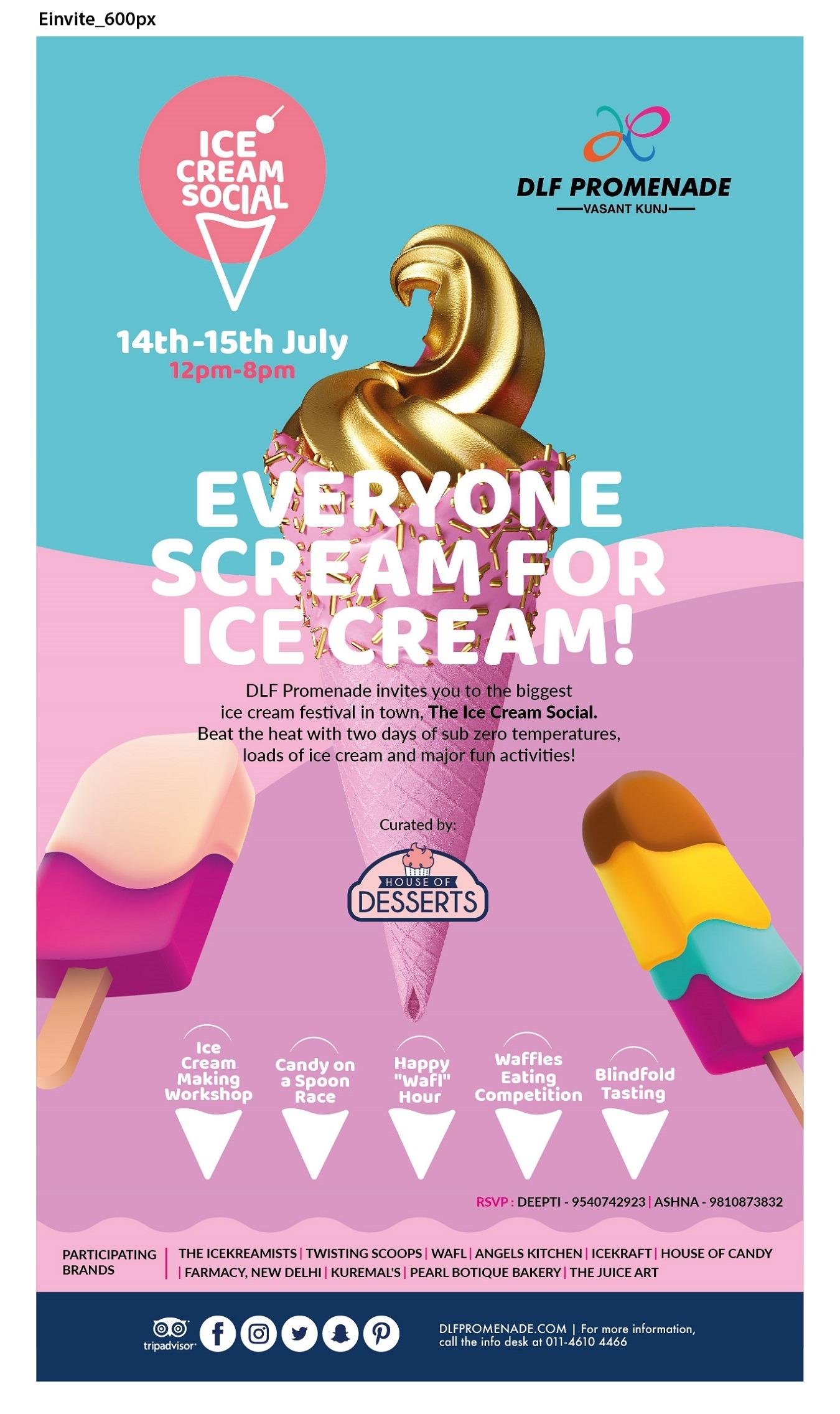 DLF Promenade presents Ice Cream Social Tickets by ASHNA