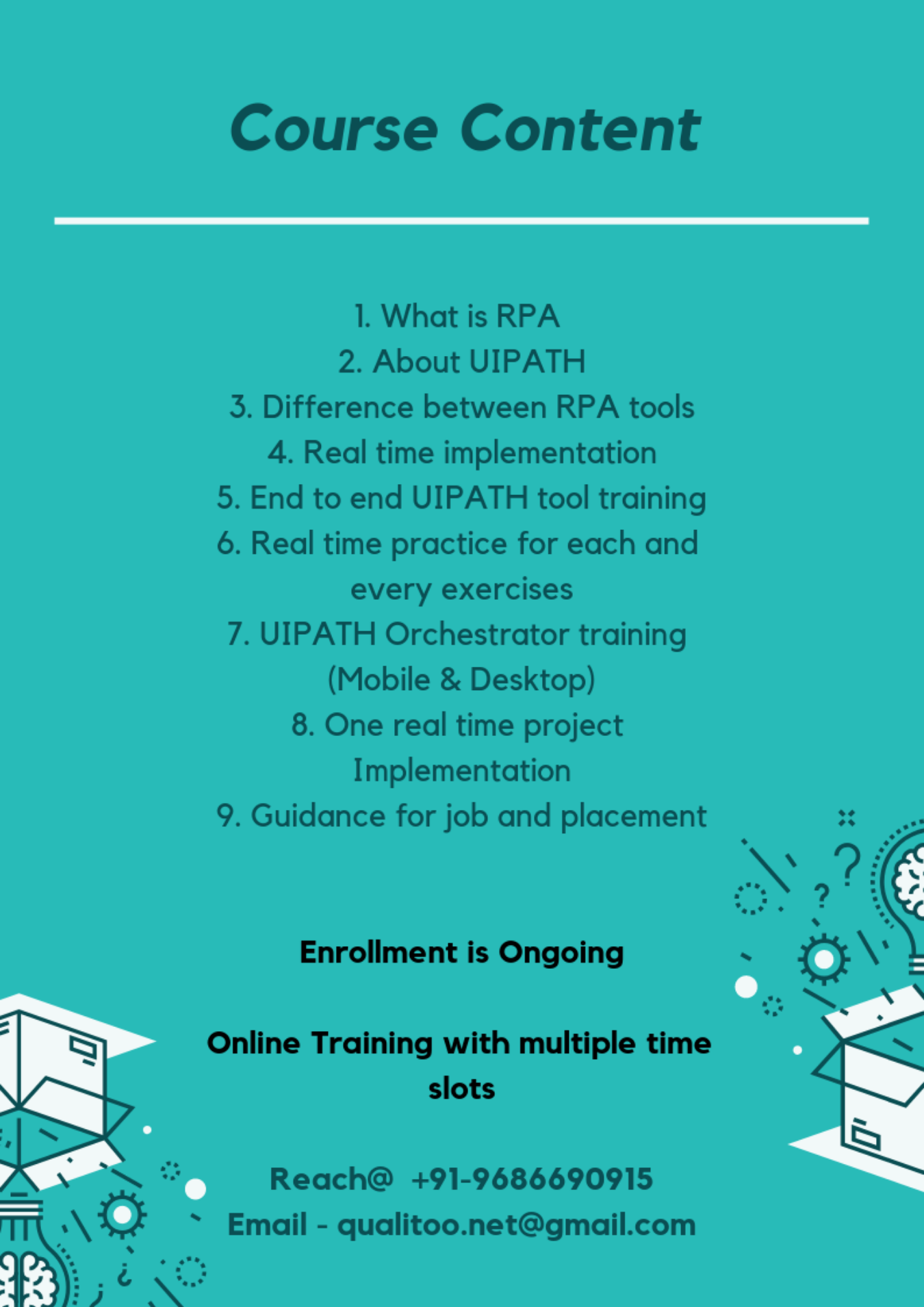 RPA UIPATH Training Tickets by Qualitoo, 21 Jan, 2019, Bengaluru Event
