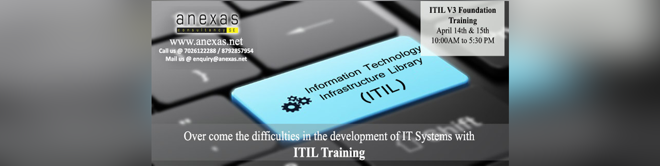 Itil V3 Foundation Training Tickets By Anexas 14 Apr 2018