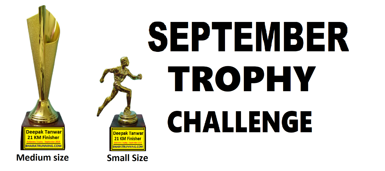 September Trophy Challenge Tickets by Bharat Running, 22 Aug, 2019, India  Event