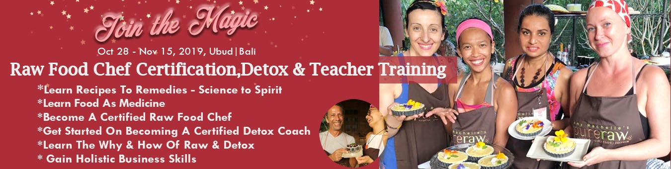 Raw Food Chef Certification & Detox Teacher Training Tickets by Holistic  Nutrition Detox School, 28 Oct, 2019, Bali Event