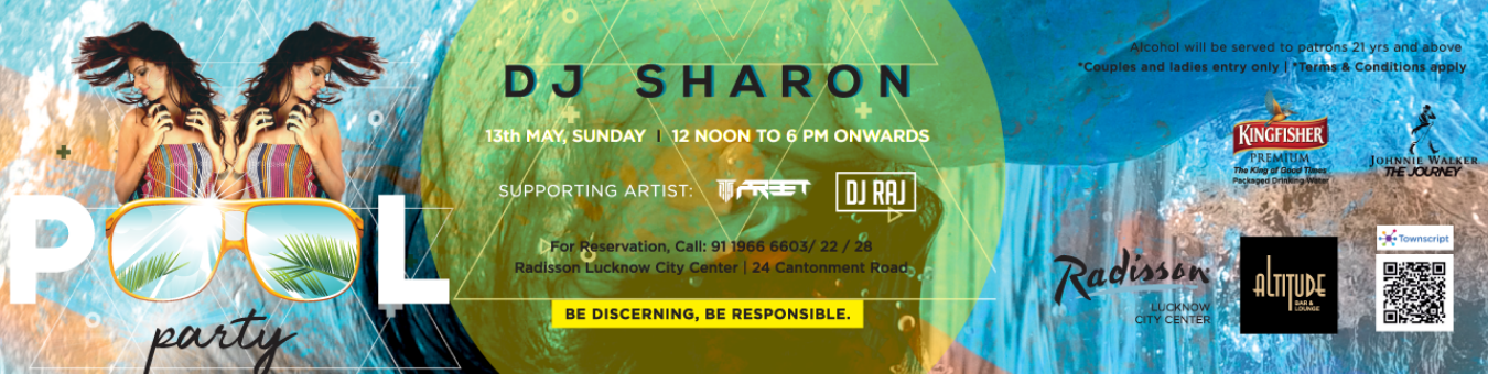 Pool Party Tickets by Radisson Lucknow, 13 May, 2018, Lucknow Event