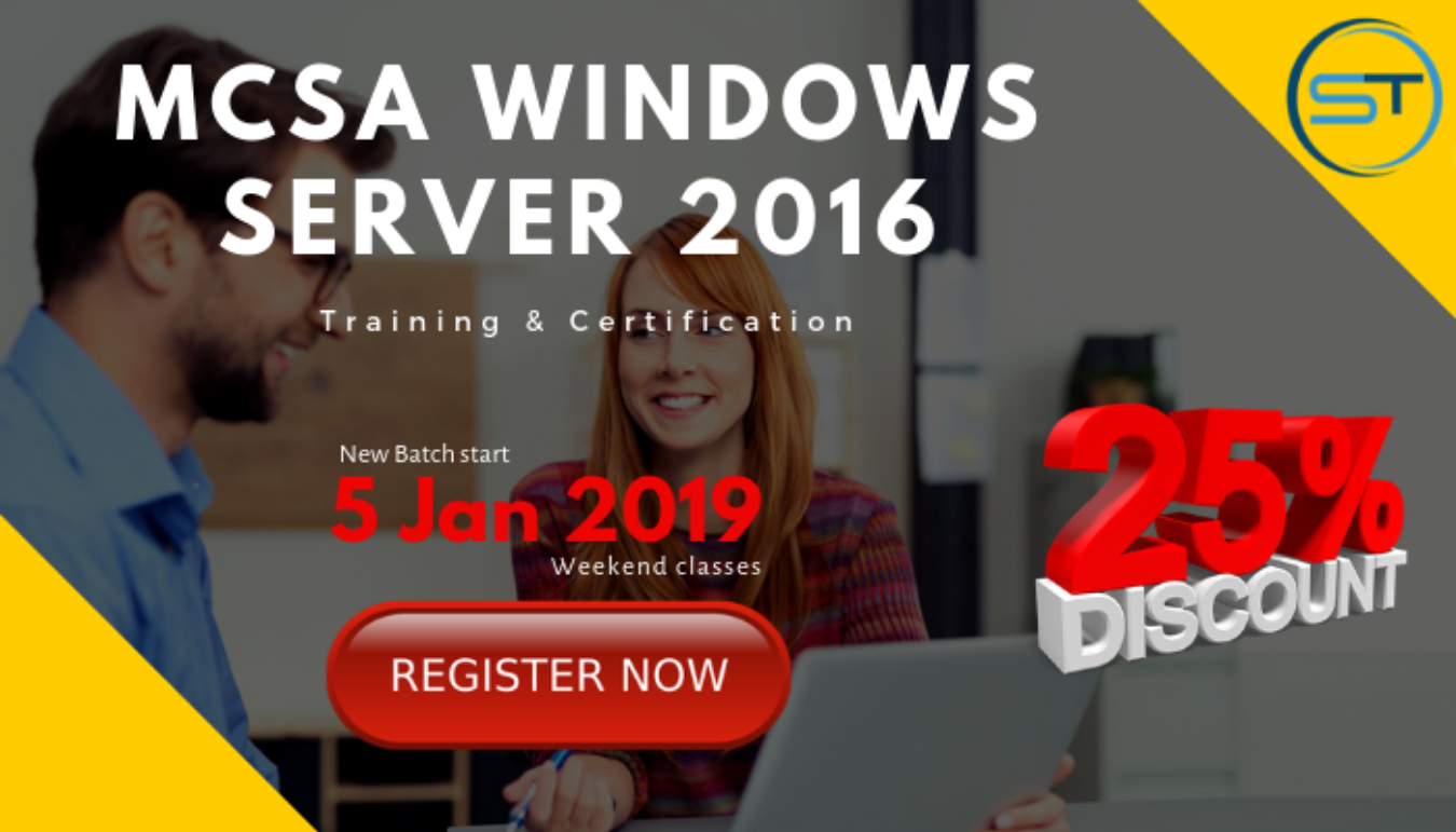Special Offers On Mcsa Windows Server 2016 Certification Training