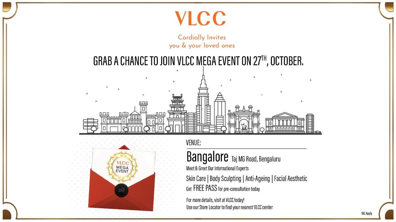 VLCC Mega Event Bangalore Tickets by VLCC Karnataka, 27 Oct, 2018,  Bangalore Event