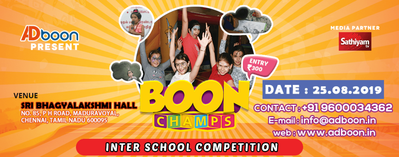 Upcoming Competitions Events in Chennai Tickets Today, This Weekend