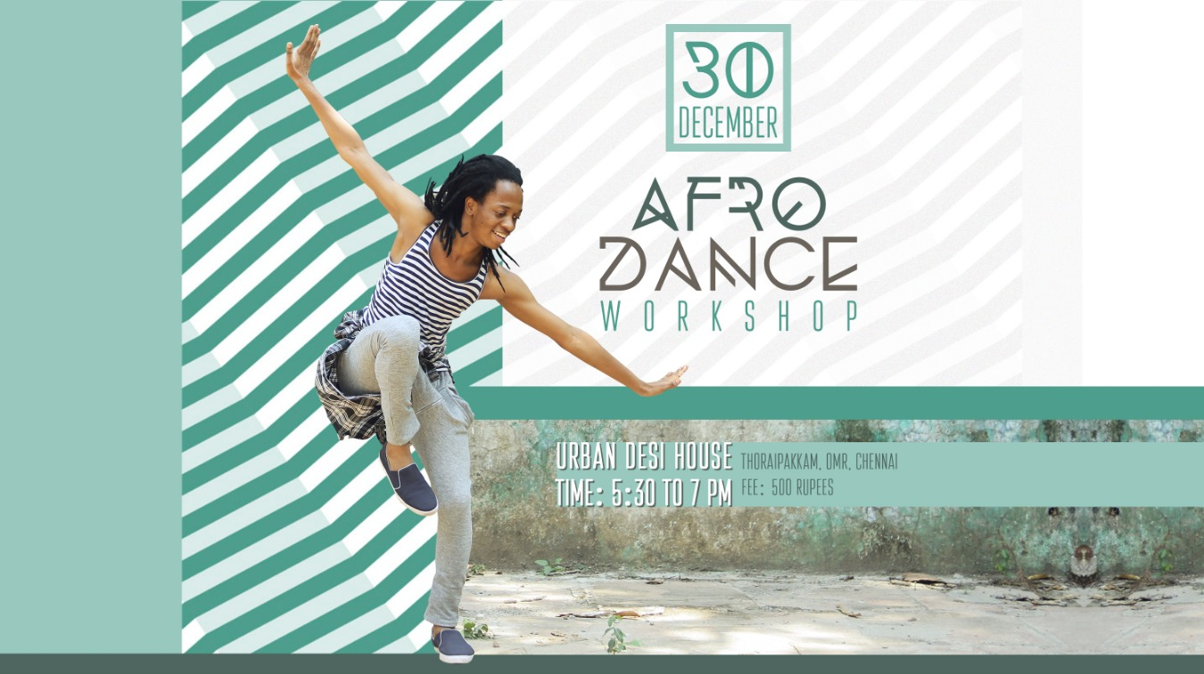 Afro Dance Workshop by Glen Tickets by Indian Youth Cafe, 30 Dec, 2018,  Chennai Event