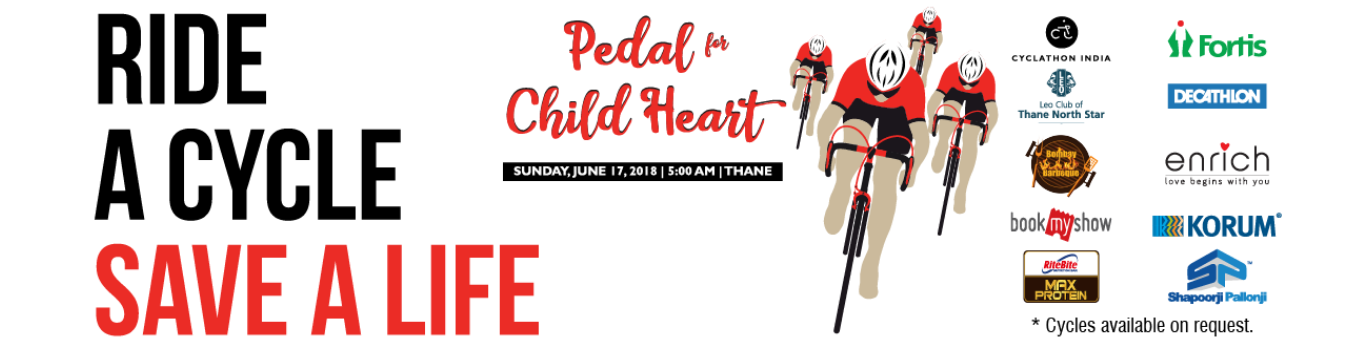 Pedal For Child Heart Tickets By Cyclathon India 17 Jun 2018