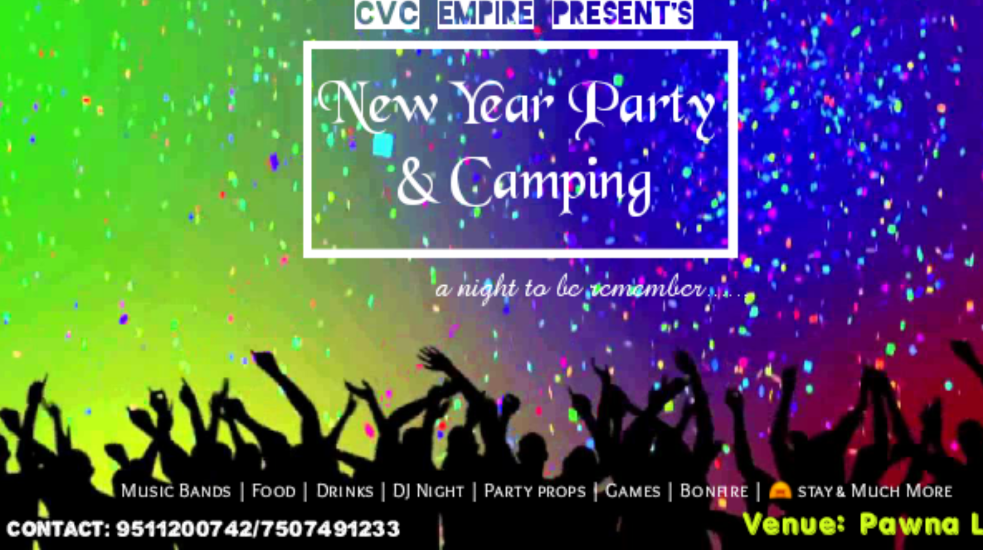 New Year Lake Side Party Tickets by CVC Empire, Tuesday ...