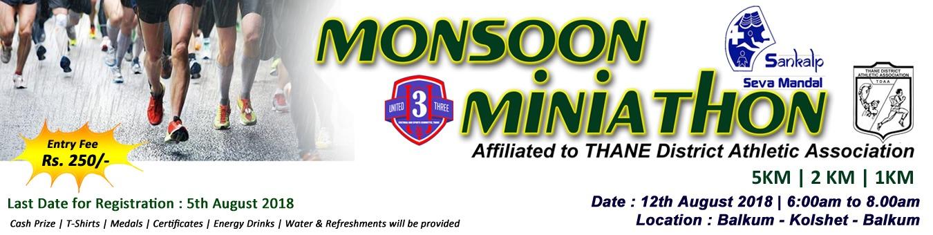 U3 MONSOON MINIATHON - 2018 Tickets by U3 Monsoon