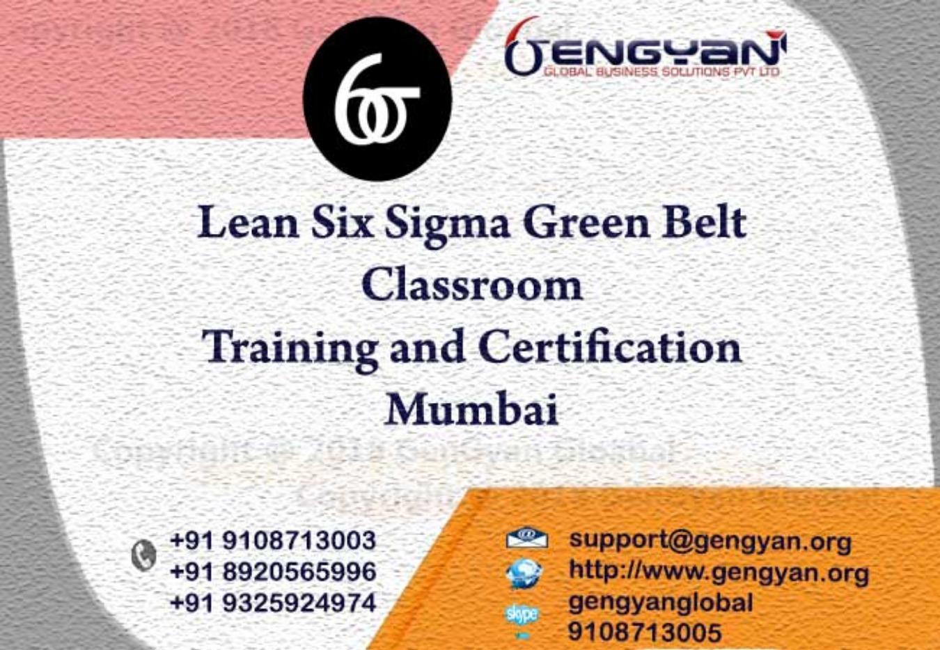 Six Sigma Green Belt Certification Classroom Training At Mumbai