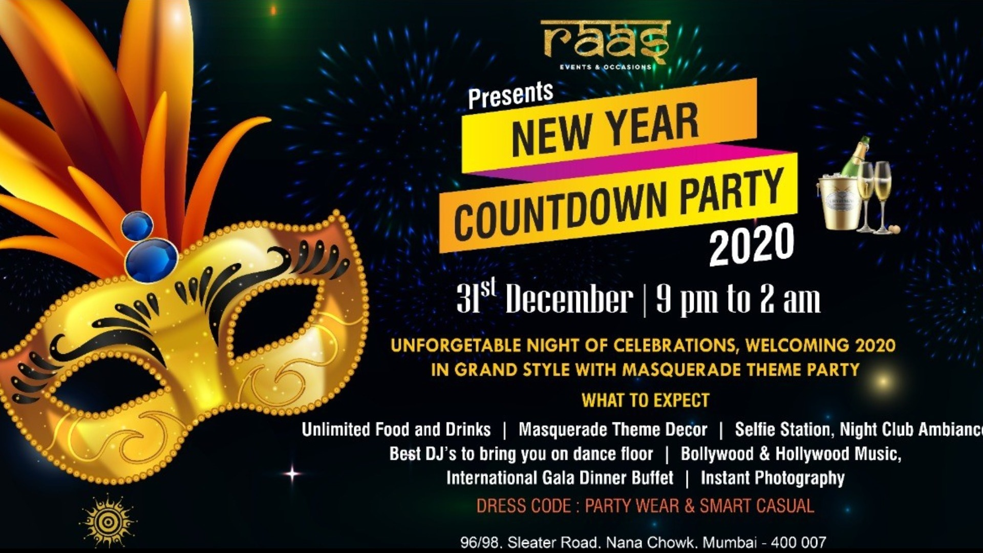 New Year Countdown Party 2020 Tickets By Krishna Palace Hotel Tuesday December 31 2019 Mumbai Event