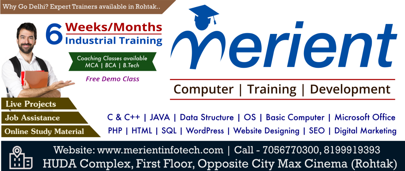 Php Python Html Digital Marketing Java Web Designing Training Sessions In Rohtak Tickets By Merient Infotech Saturday August 17 2019 Rohtak Event