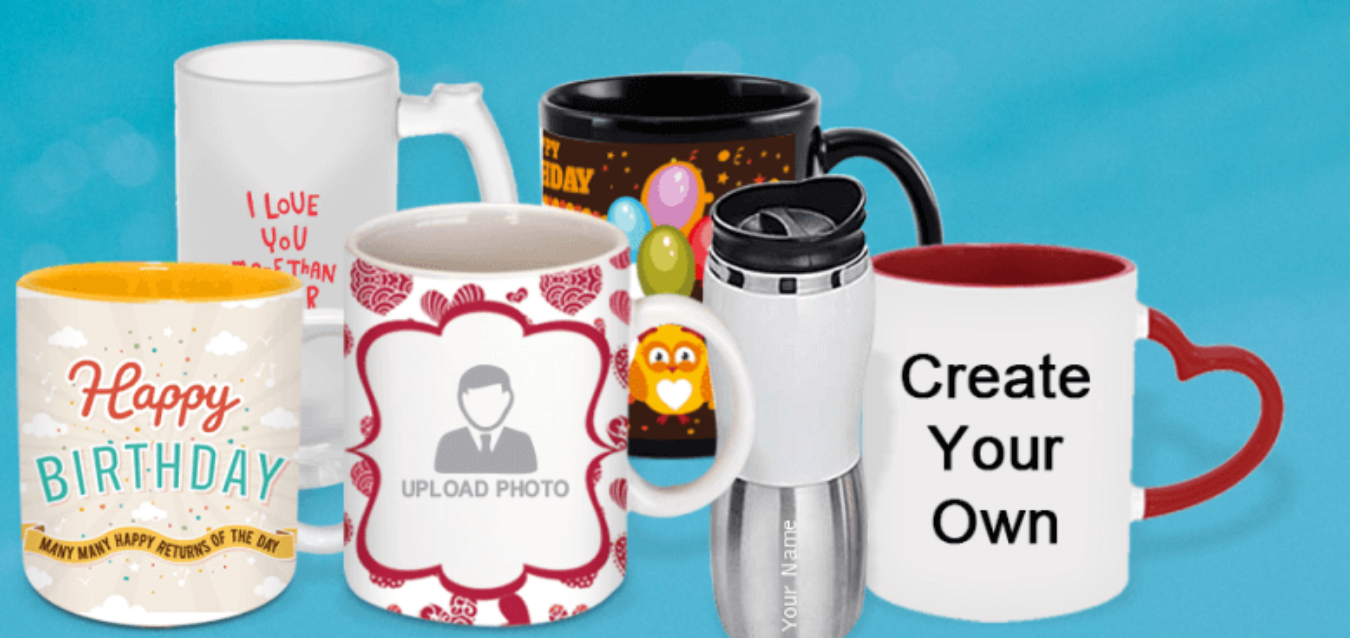 Personalized Mugs Online @199 Tickets by Printland, 1 Aug, 2019, Delhi Event