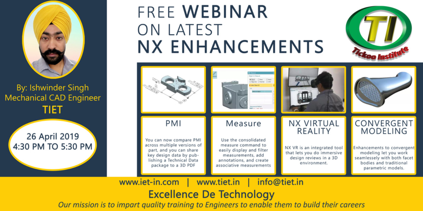 Free Webinar On Latest NX Enhancements Tickets by Tickoo