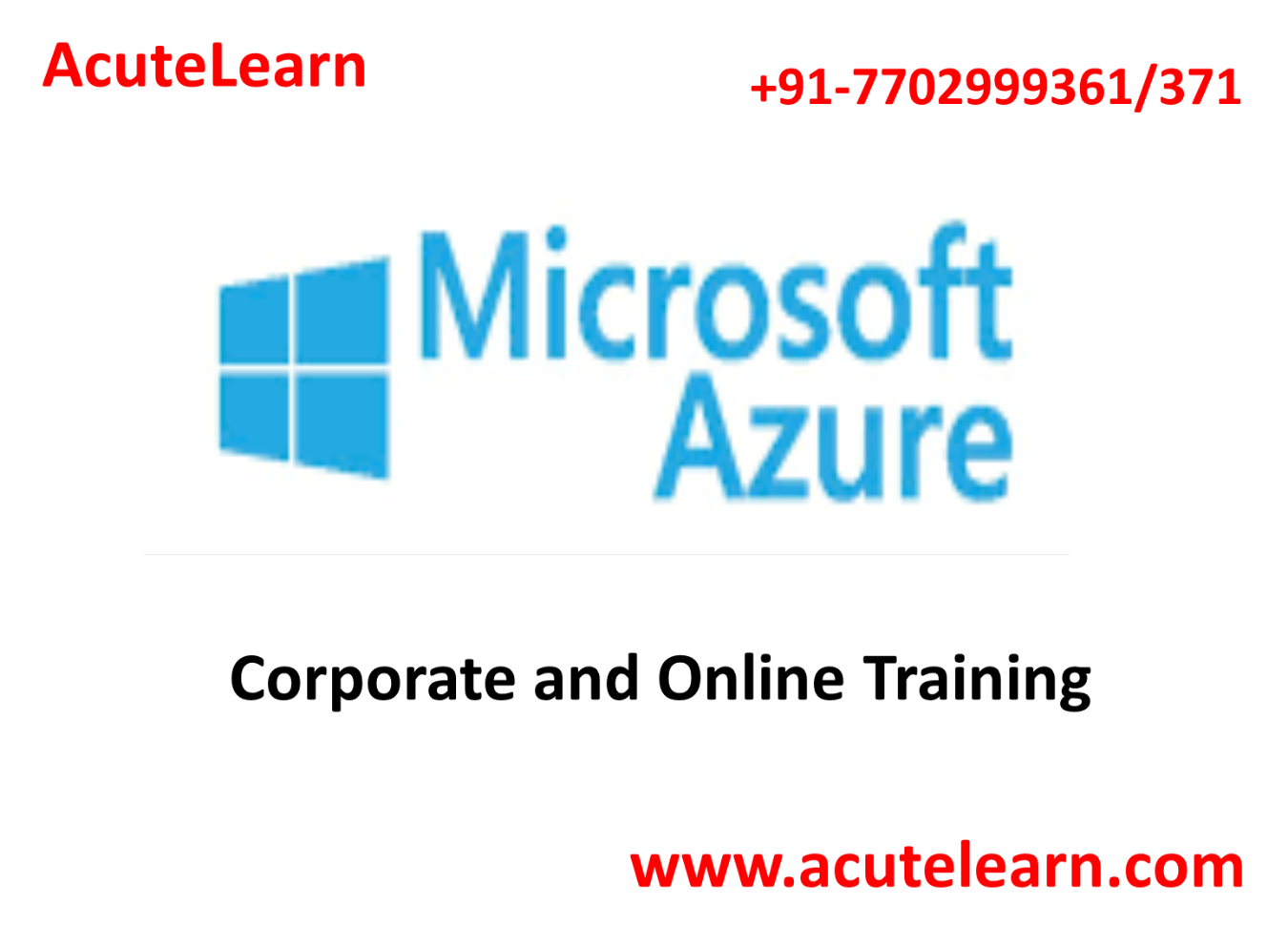 Best Microsoft Azure Training Institute in Hyderabad