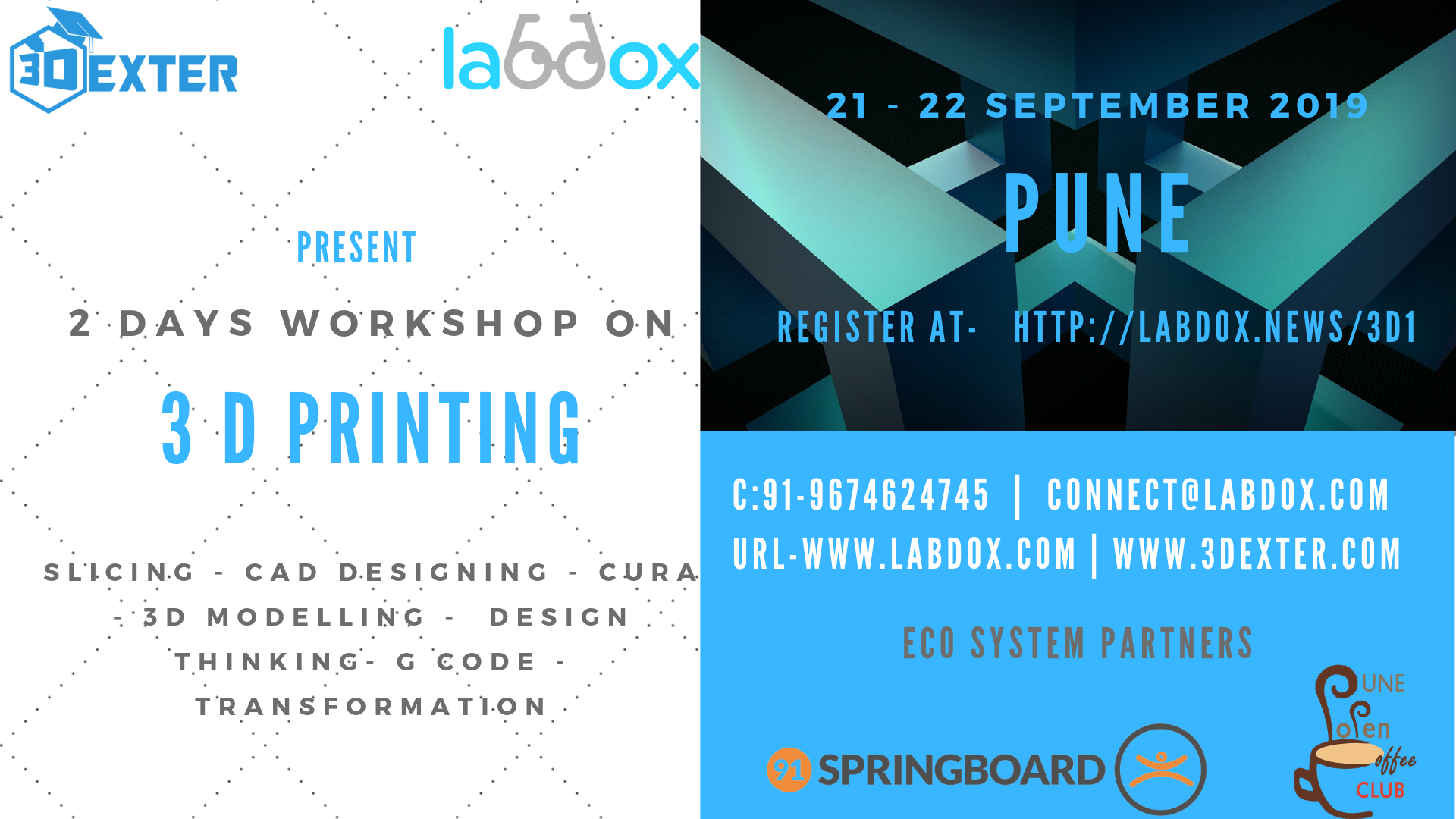 3D Printing Workshop Tickets by labdox, 21 Sep, 2019, Pune Event