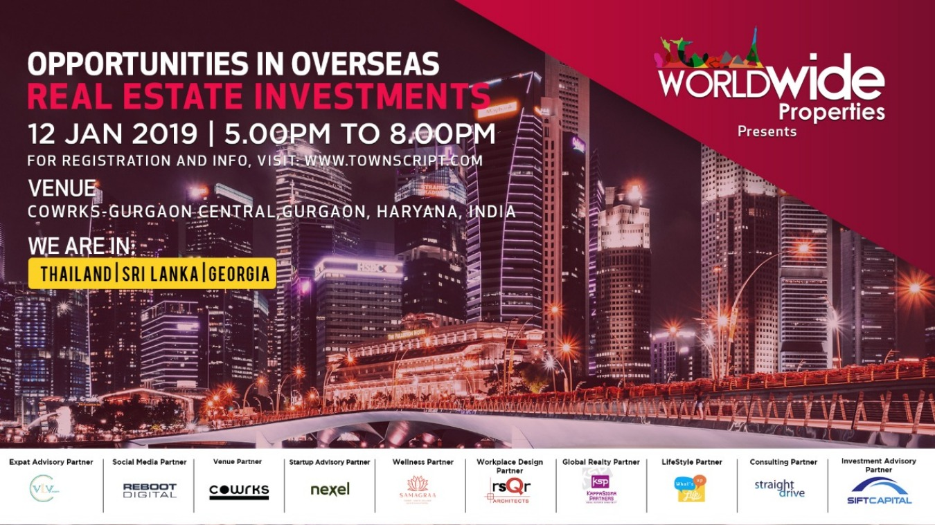 Opportunities in Overseas Real Estate Investments Tickets by Amar Pratap  Singh, 12 Jan, 2019, Gurugram Event