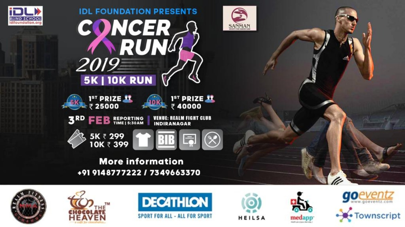 Cancer Run 2019 Tickets by REALM FITNESS FIGHT CLUB