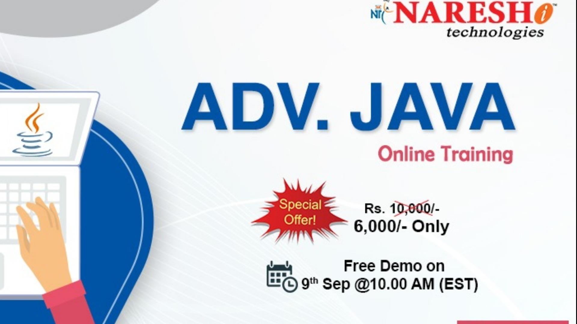 Advanced Java Online Training In USA - NareshIT Tickets by