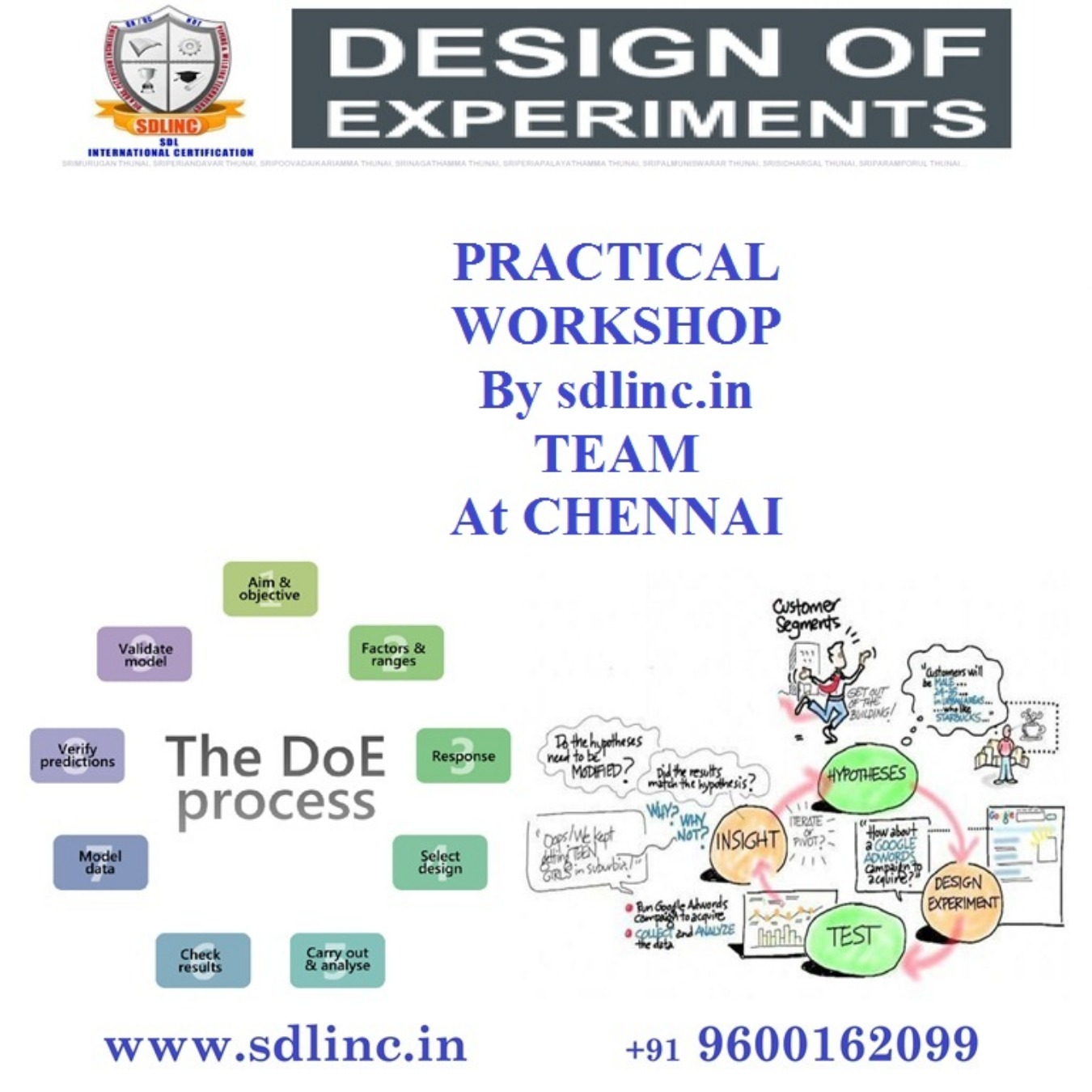 DOE, Design of Experiments certificate training workshop Tickets by qaqc  academy, Chennai Event