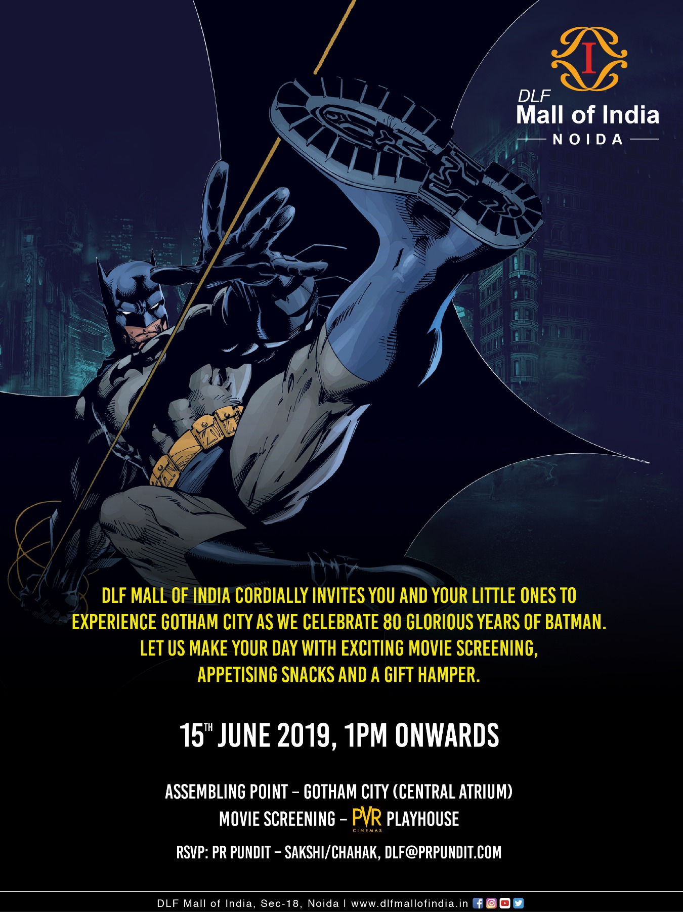 Experience Gotham City at DLF Mall of India Tickets by Sakshi