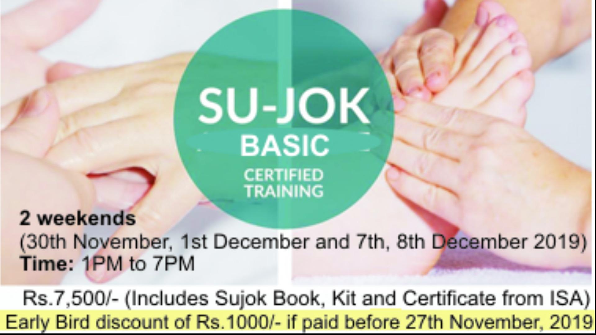 Sujok Therapy Training - Basic Level - (Over 2 weekends ...
