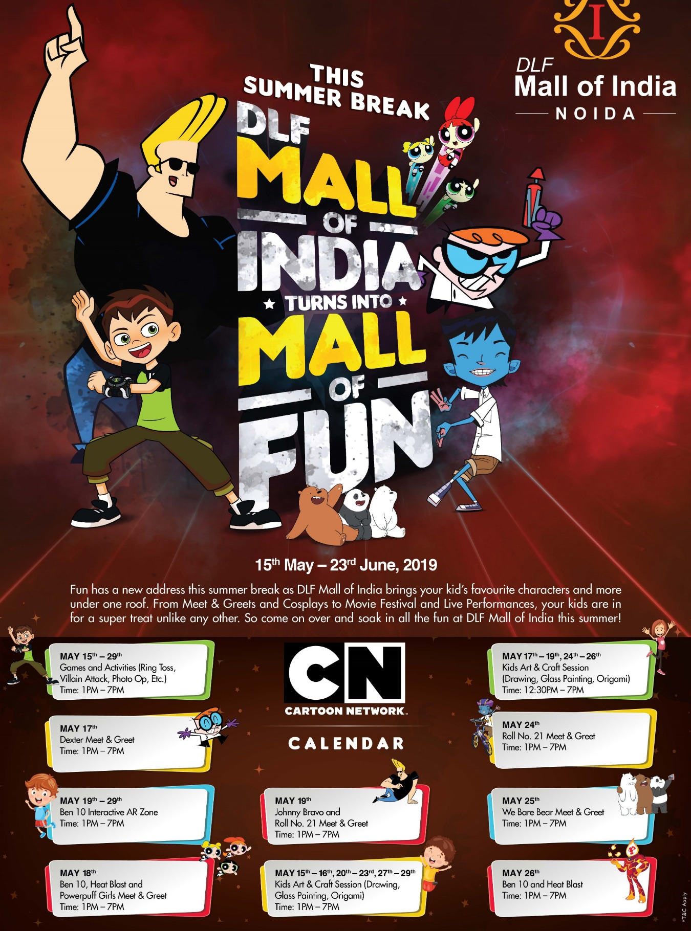 It is Hero Time with Cartoon Network at DLF Mall of India