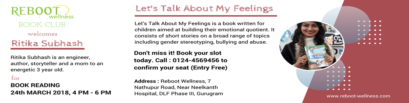 Book Reading by Ritika Subhash Tickets by Reboot Wellness