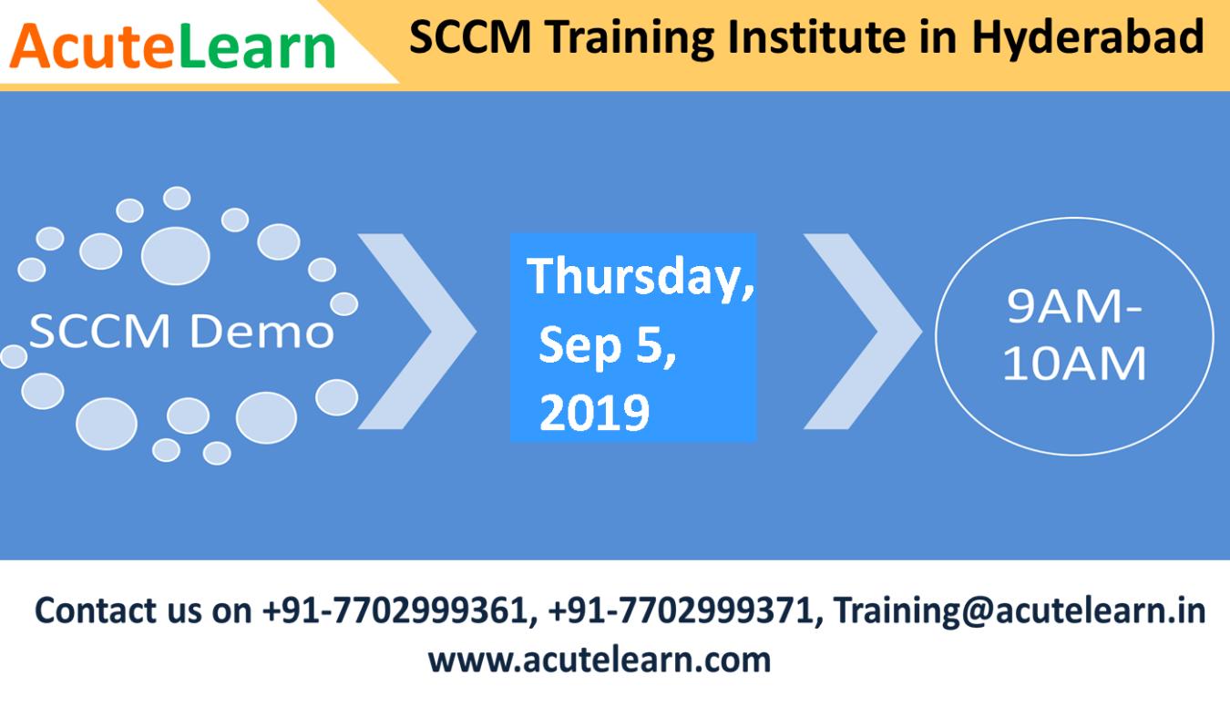 Best SCCM Training Institute in Hyderabad---AcuteLearn