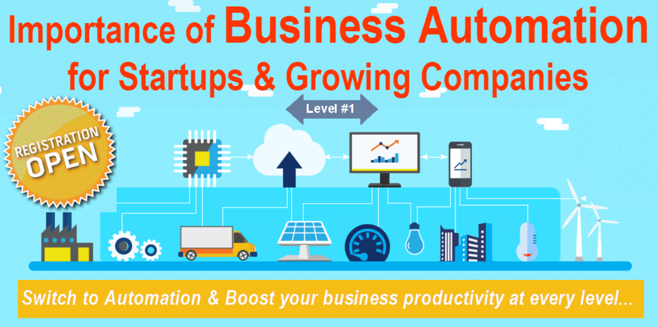 Business Automation for Startups & Growing Businesses - Online Only Tickets  by FAB SOFTWARE STOCK (India), 1 Sep, 2019, Navi Mumbai Event