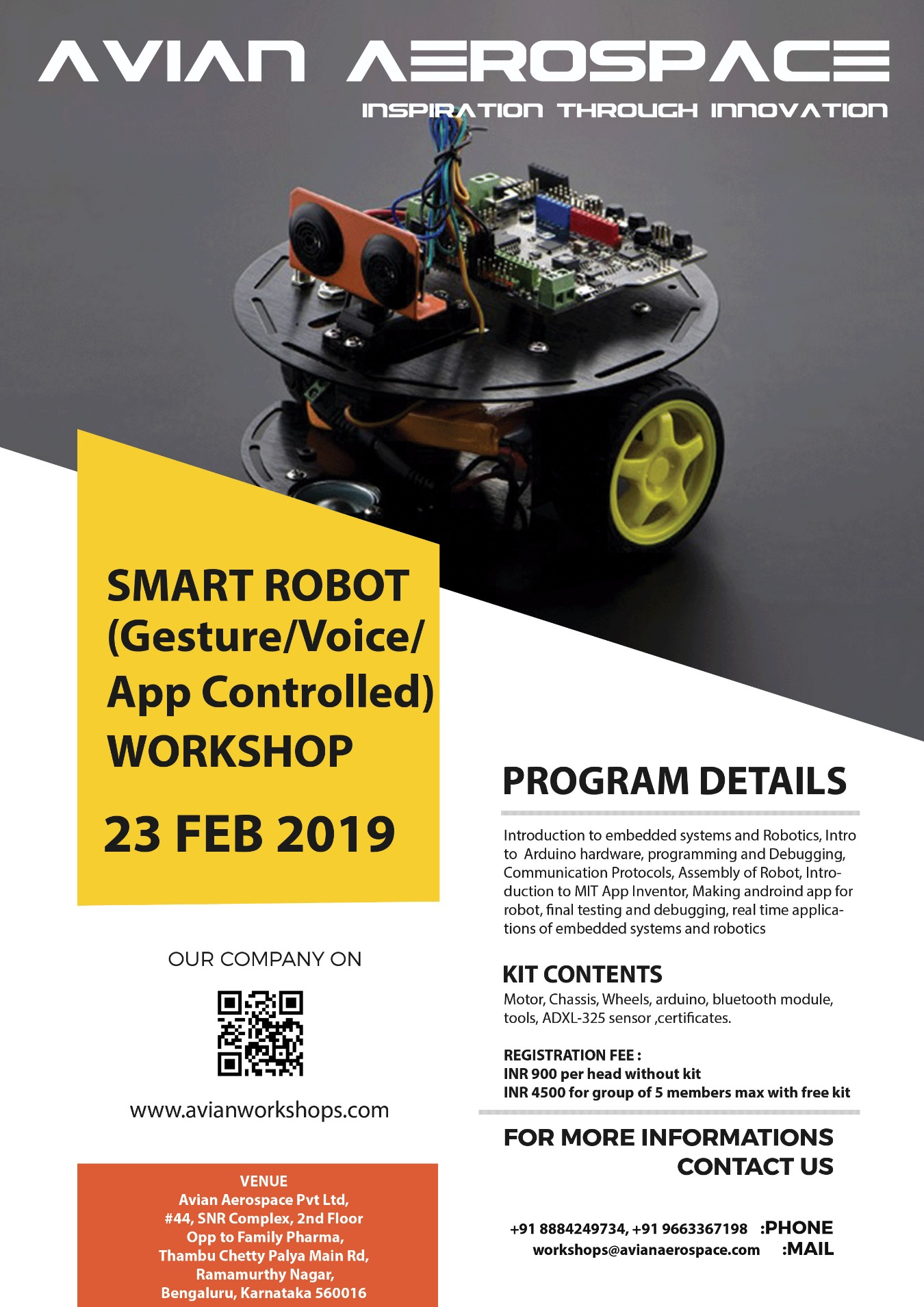 ONE-DAY WORKSHOP ON SMART ROBOT Tickets by