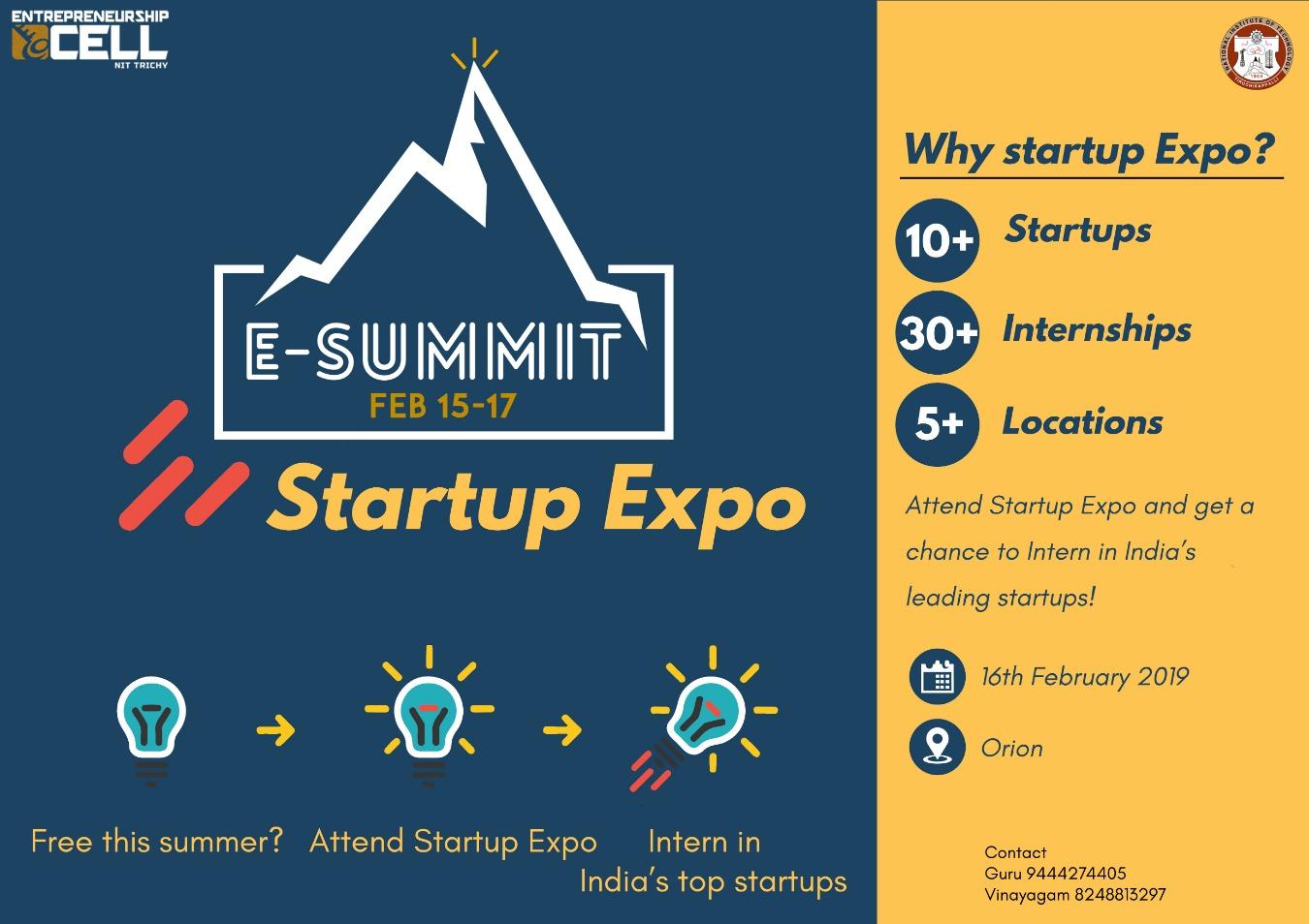 E-summit Tickets by Mylavan V, 15 Feb, 2019, Tiruchirappalli