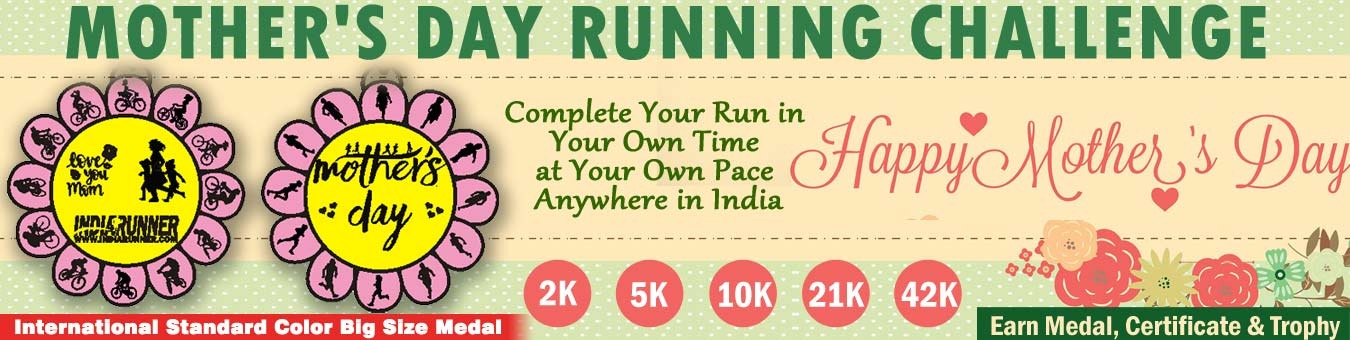 Mother's Day Running Challenge 2019 Tickets by INDIA RUNNER, 1 May, 2019,  Hyderabad Event