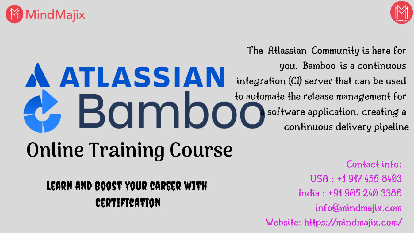 Atlassian Bamboo Online Training Course - Boost Your