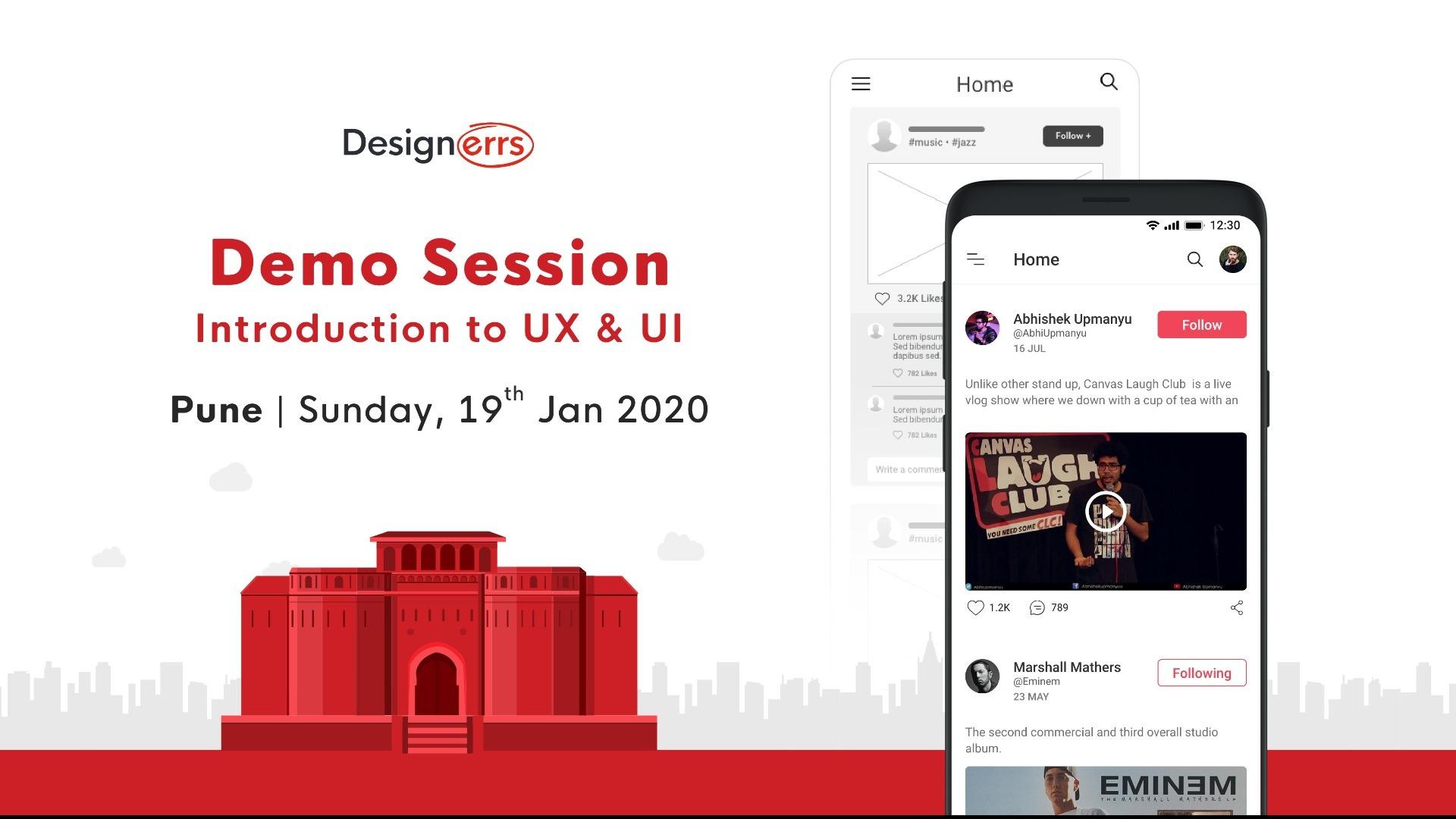 Learn Ux Ui Design Demo Session I Designerrs Lab Pune Tickets By Designerrs Lab Sunday January 19 2020 Pune Event