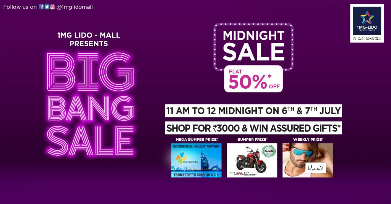19ba35361cff7 Big Bang Sale - Midnight Sale Flat 50% Tickets by Xah Zen, 6 Jul, 2019,  Bengaluru Event