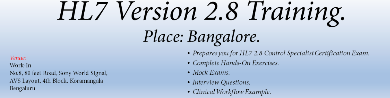 HL7 Version 2.8 Control Specialist Training Tickets by Archana ...