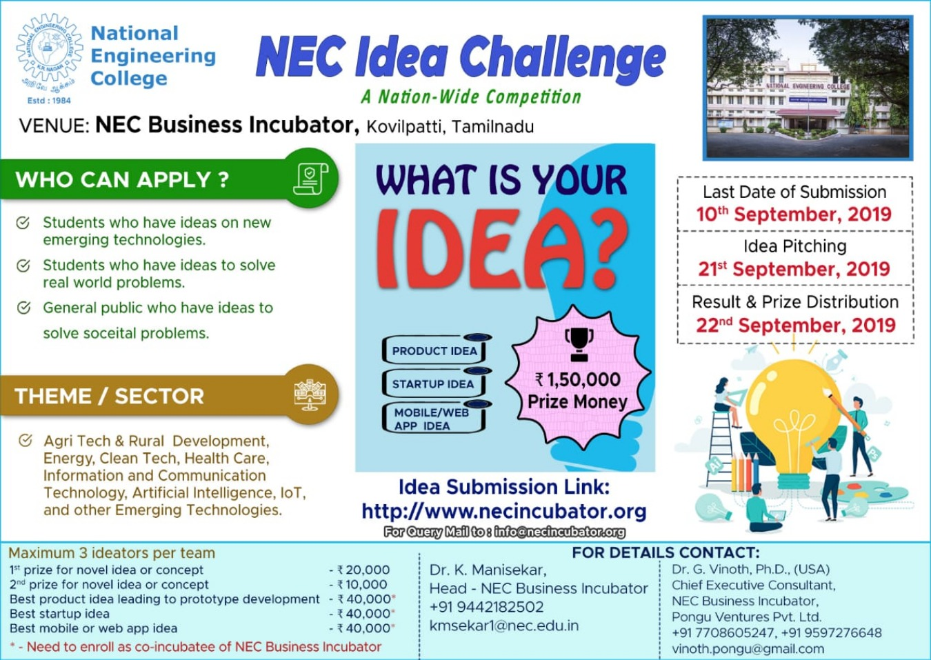 NEC Idea Challenge Tickets by nec incubator, 20 Sep, 2019